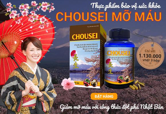 Chousei Việt Nam – Thực Phẩm Bảo Vệ Chức Năng Chousei Mỡ Máu 2020
