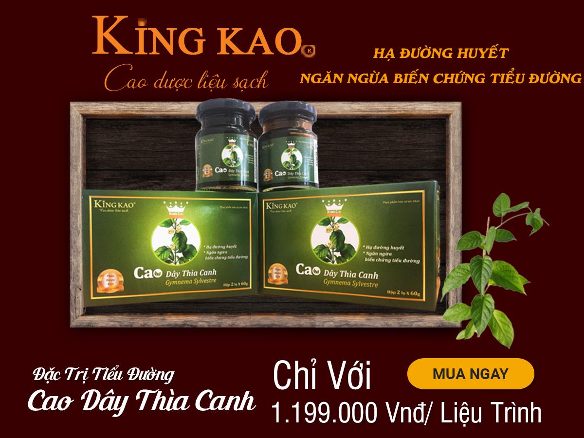 Cao Dây Thìa Canh King Cao – Ngăn Ngừa Biến Chứng Tiểu Đường 2020